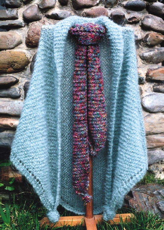 EK707 English Garden Shawl & Scarf