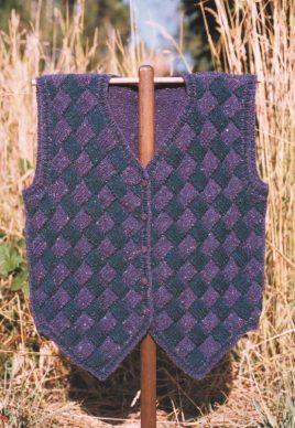GU401 Entrelac Tuxedo Vest